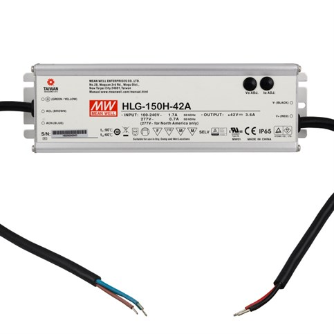 Mean Well HLG-150H-42A 150W 42V 3.6A LED Power Supply
