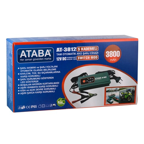 Ataba AT-3812 12V 3.8AH Switch Mode Akü Şarj Cihazı